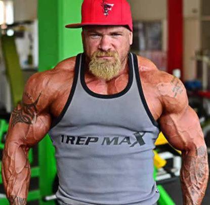 Bodybuilding Ribbed Vest - Grey